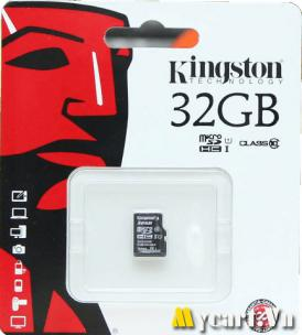 Thẻ Nhớ MicroSD Kingston 32GB Class 10 Up