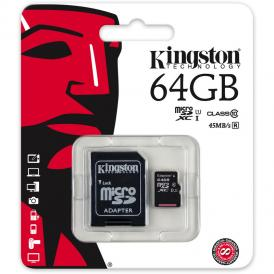 Thẻ nhớ Kingston MicroSD 64GB class 10 45MB/s