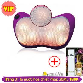 Gối massage Magic 819 6 bi màu tím